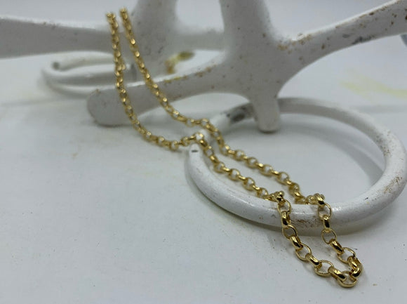 Heavy Gold Oval Belcher Chain