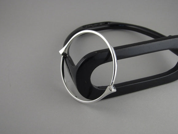 Full Round Horseshoe Nail Bangle in Sterling Silver by Chele Clarkin