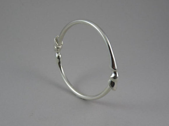 Hoof Bangle in Sterling Silver by Chele Clarkin