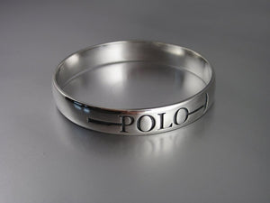 "Silver Polo ""The Sport of Kings"" Bangle by Chele Clarkin"