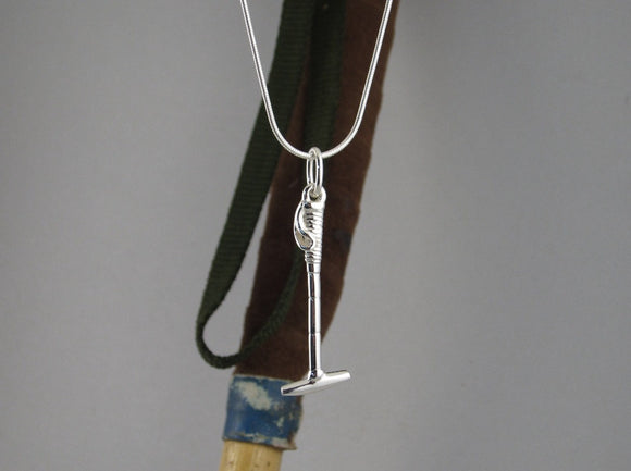 40 mm Silver Heavy Polo Stick Pendant in Sterling Silver by Chele Clarkin