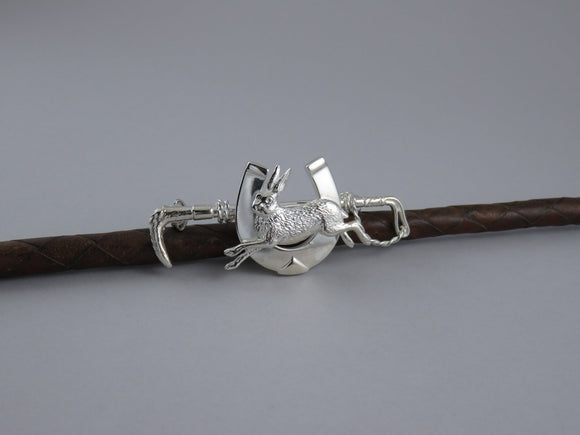 Hunting Whip with Running Hare on Shoe