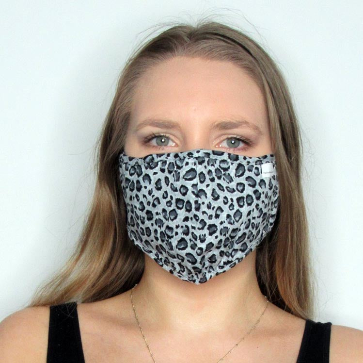Leopard Cotton Mask with Adjustable Straps