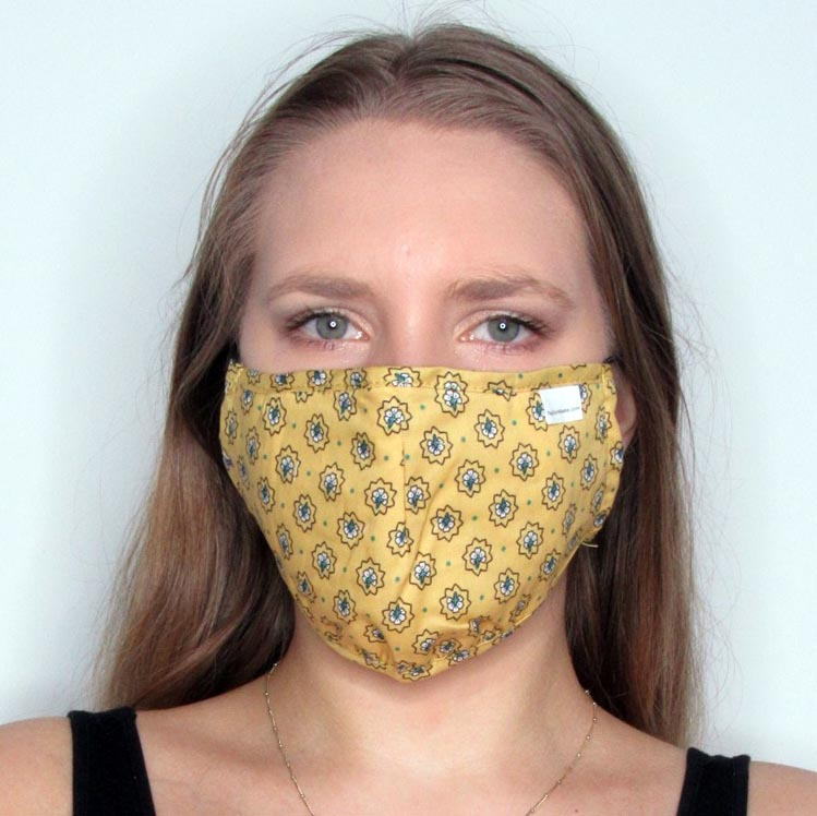 Geo Cotton Mask with Adjustable Straps