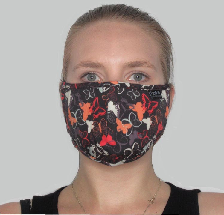 Butterfly Cotton Masks with Adjustable Straps