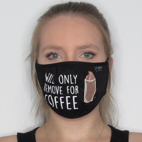Will only remove for Coffee Cotton Mask  with Adjustable Straps