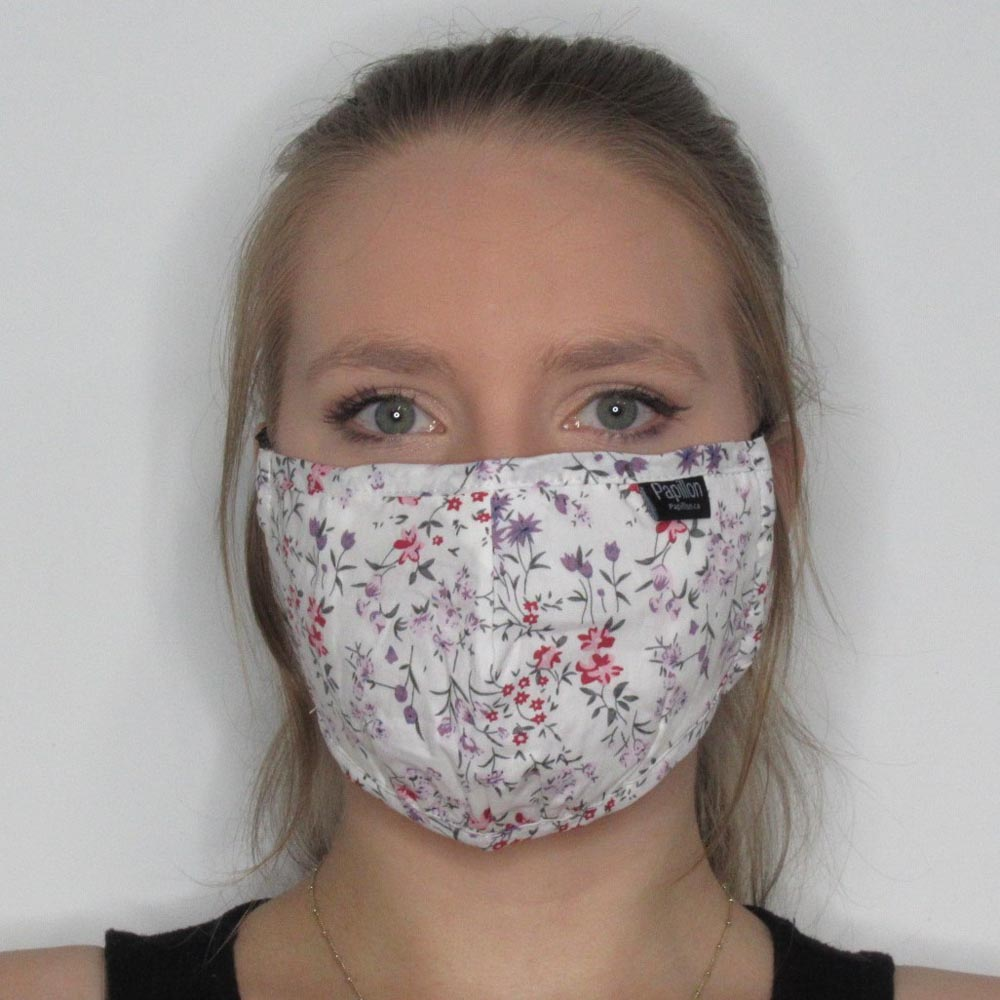 Floral Cotton Mask with Adjustable Straps