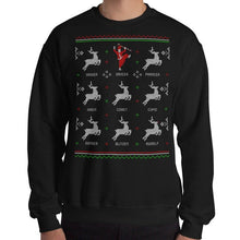 Load image into Gallery viewer, BLACK - 'DANCER' HOLIDAY SWEATER