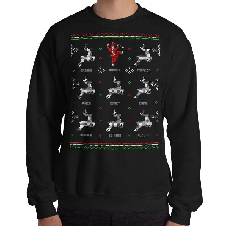 BLACK - 'DANCER' HOLIDAY SWEATER