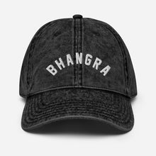 "Load image into Gallery viewer, ""BHANGRA"" Vintage Cotton Twill Cap"
