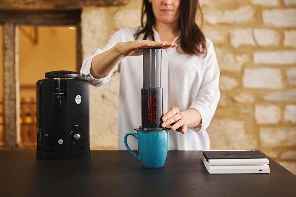 Artisan coffee co aeropress single cup brew guide plunger brewing equipment