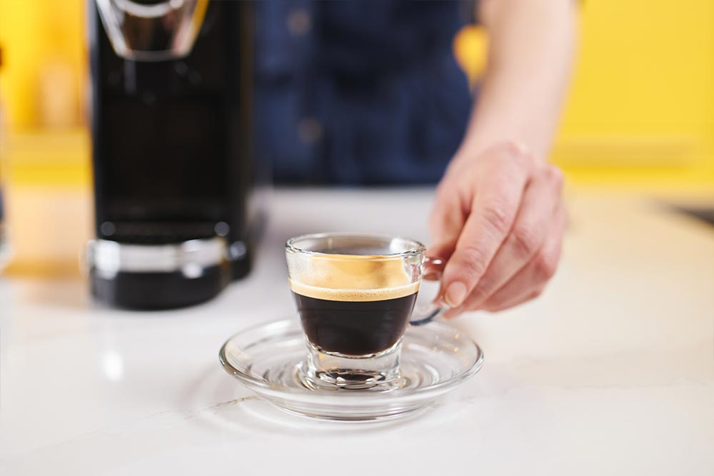 Artisan coffee co brew guide pod machine eject brew chamber clean espresso water