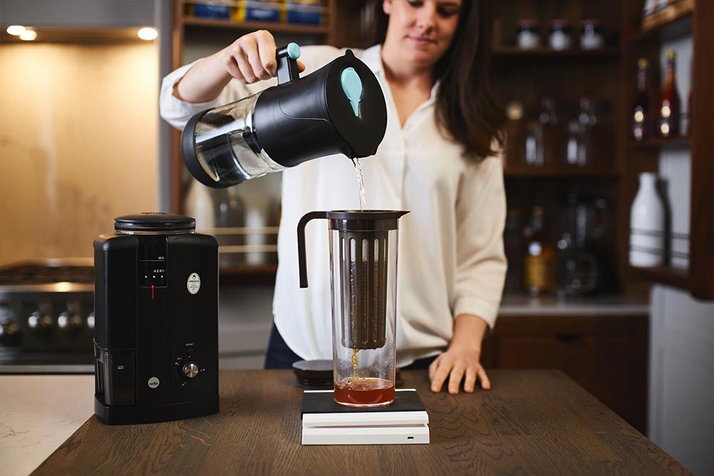 artisan coffee co coldbrew brewguide filtered water ground coffee