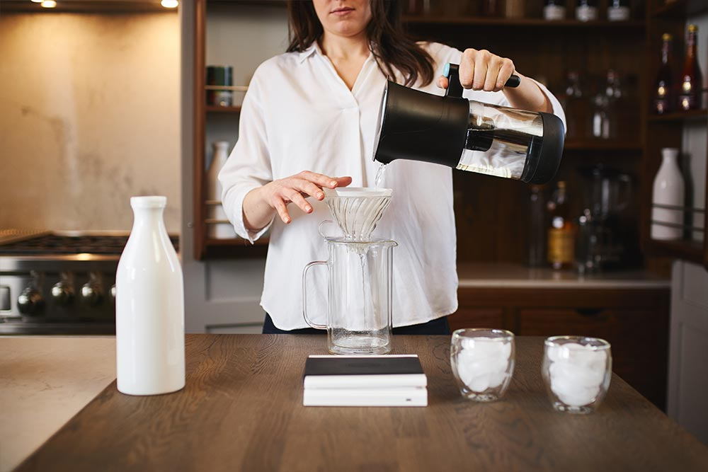 artisan coffee co coldbrew brewguide infused paper filter rinse v60 conical strainer milk jug