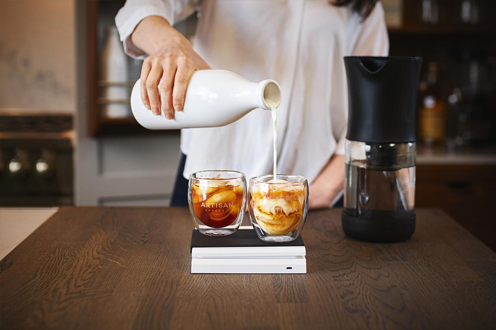 artisan coffee co coldbrew brewguide with or without milk ice whisky tumbler taste