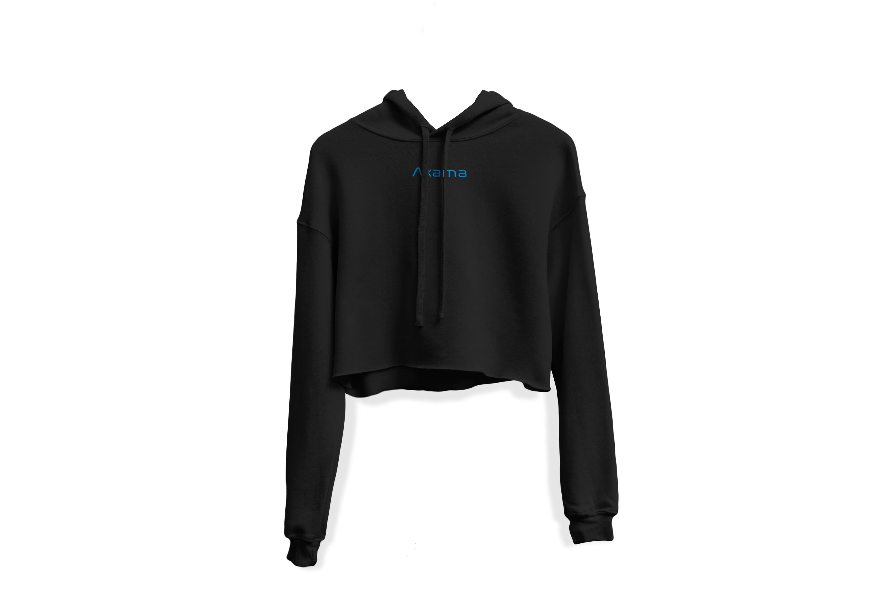Be Someone Crop Top Hoodie - Blk