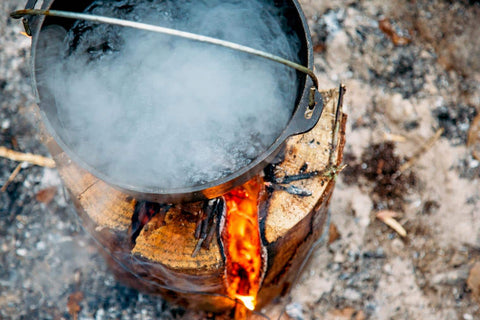 Swedish Fire Torch Cooking