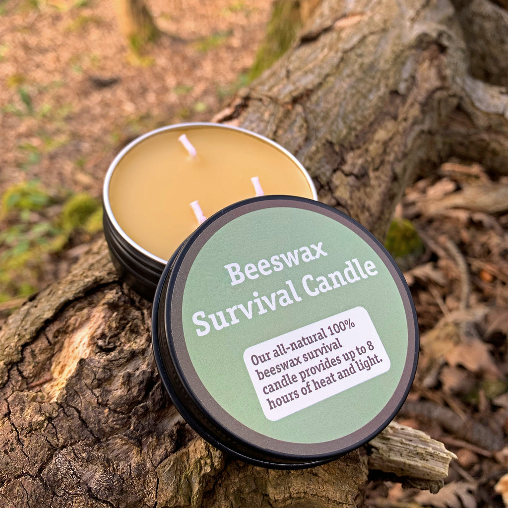 Beeswax Survival Candle | Handmade in UK