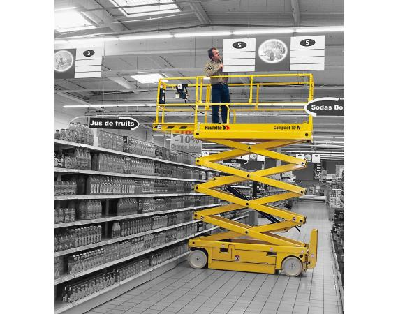 Haulotte Compact10N 26ft Narrow Electric Scissor Lift