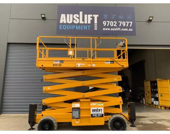Used 2018 Haulotte H15SX 43ft All Terrain 4WD Scissor Lift