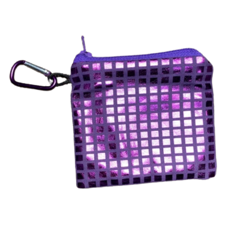 90's Throwback Metallic Checker Purple | Small - Antimicrobial Mask Case