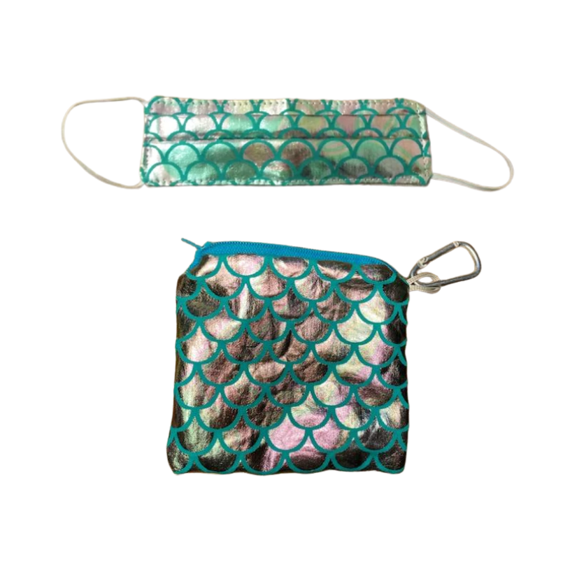 Kids Mermaid Mask & Pouch Set