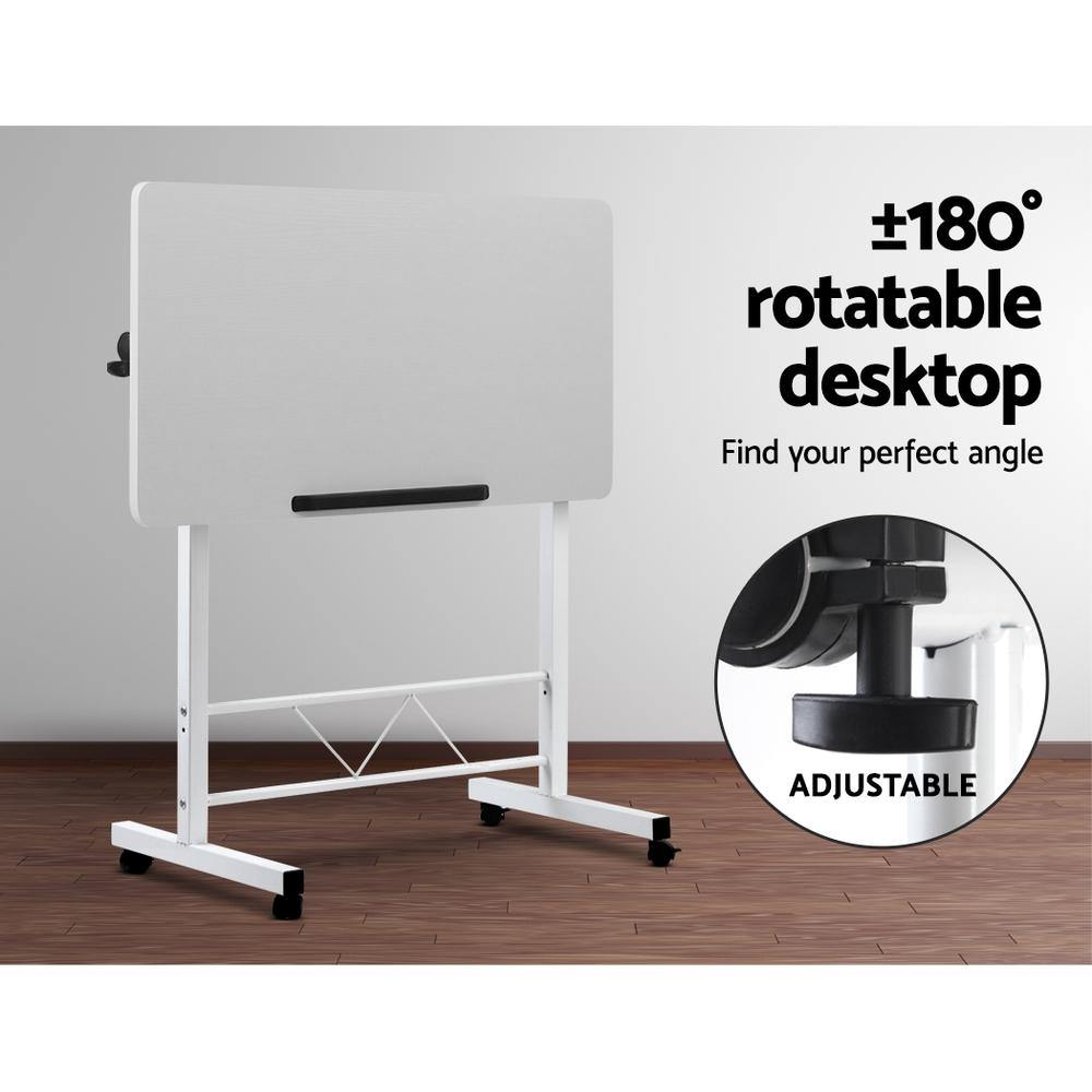 Portable Mobile Laptop Desk Height Adjustable Table - 2uDirect Australia