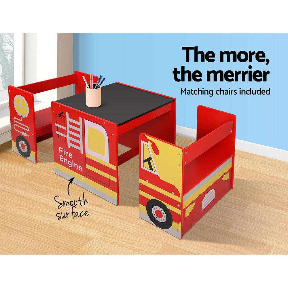 Kids Fire Truck Table & Chair Set - 2uDirect Australia