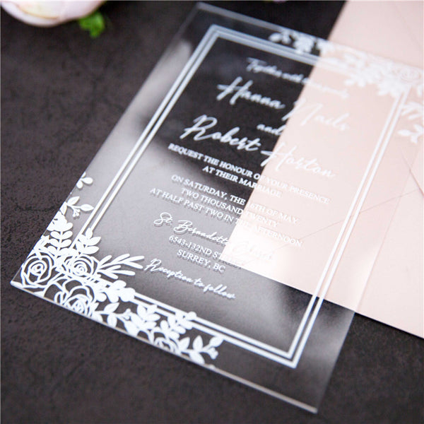 Boho Unique Acrylic Invitation