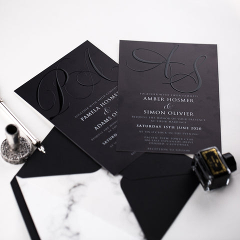 Modern & Elegant Monogram Invitation