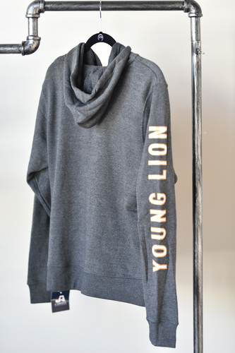 Grey Zip Up Hoodie Sweatshirt with Logo