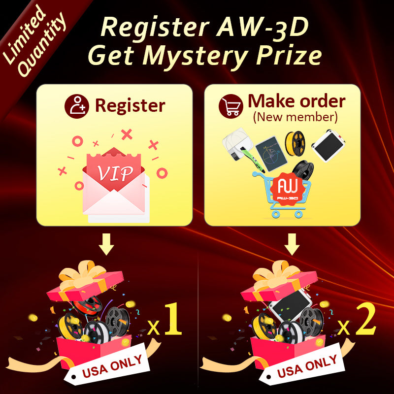 New members AW-3D printing for AW3D world Mystery Gife give away