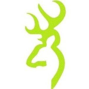 "Buckmark 6"" Decal Lime Green"