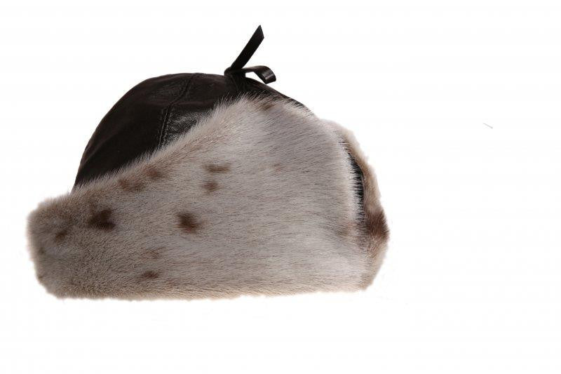Bilodeau RCMP Natural Seal Fur with Black Leather