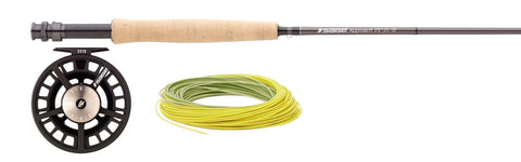 Sage Approach 9' 8WT 4PC Fly Rod Combo With 2280 Reel & Rio Line