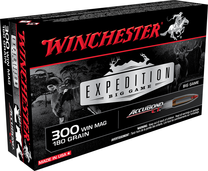 Winchester Expedition Big Game 300 Win Mag 180 Gr AccuBond CT