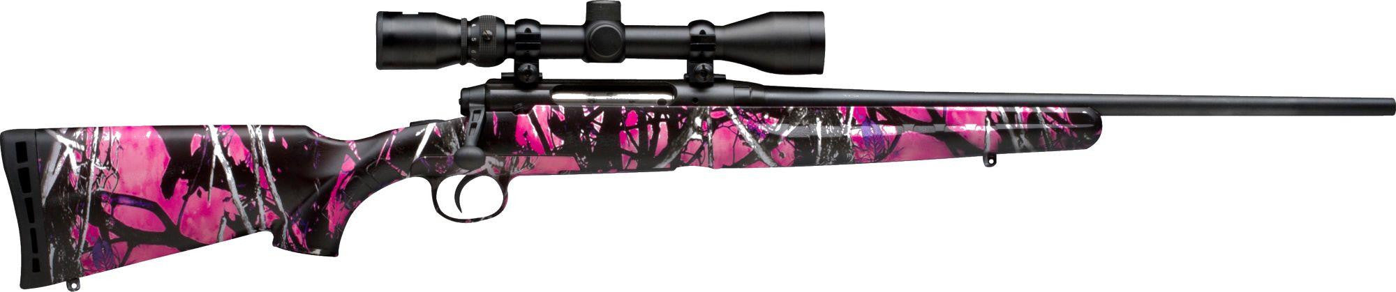 Savage Axis XP Compact Muddy Girl 243 Win W/Bushnell 3-9x40 Scope