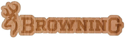 "4"" Browning 2-Tone Real Wood Decal"