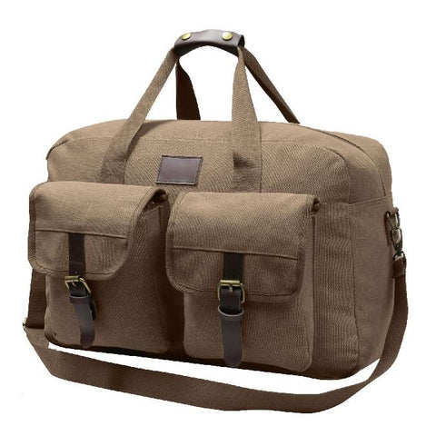 World Famous Bezenville Canvas Brown Duffle
