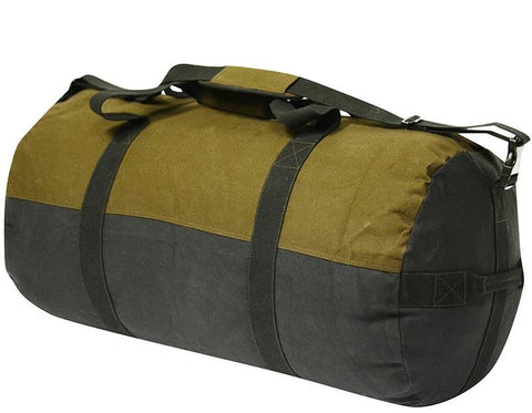 World Famous 30X16-inch Waxed Canvas Duffle Bag