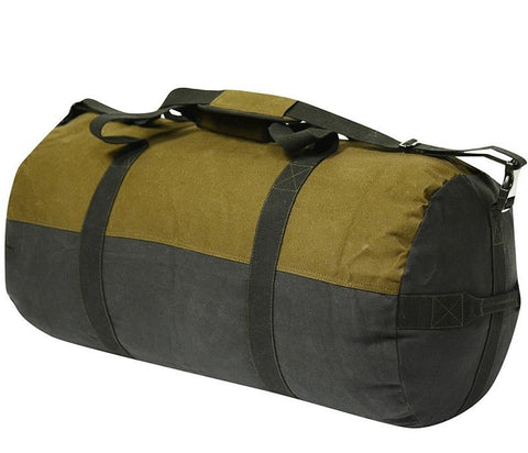World Famous 24X14-inch Waxed Canvas Duffle Bag