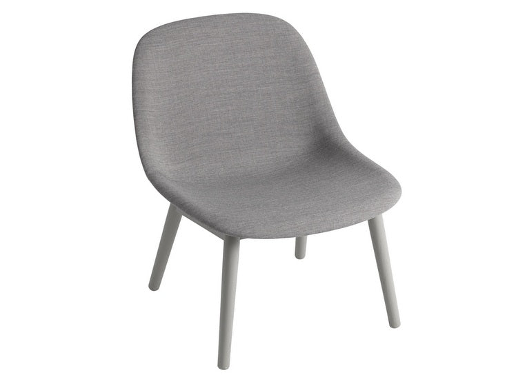 MUUTO Fiber lounge chair wood base tekstil