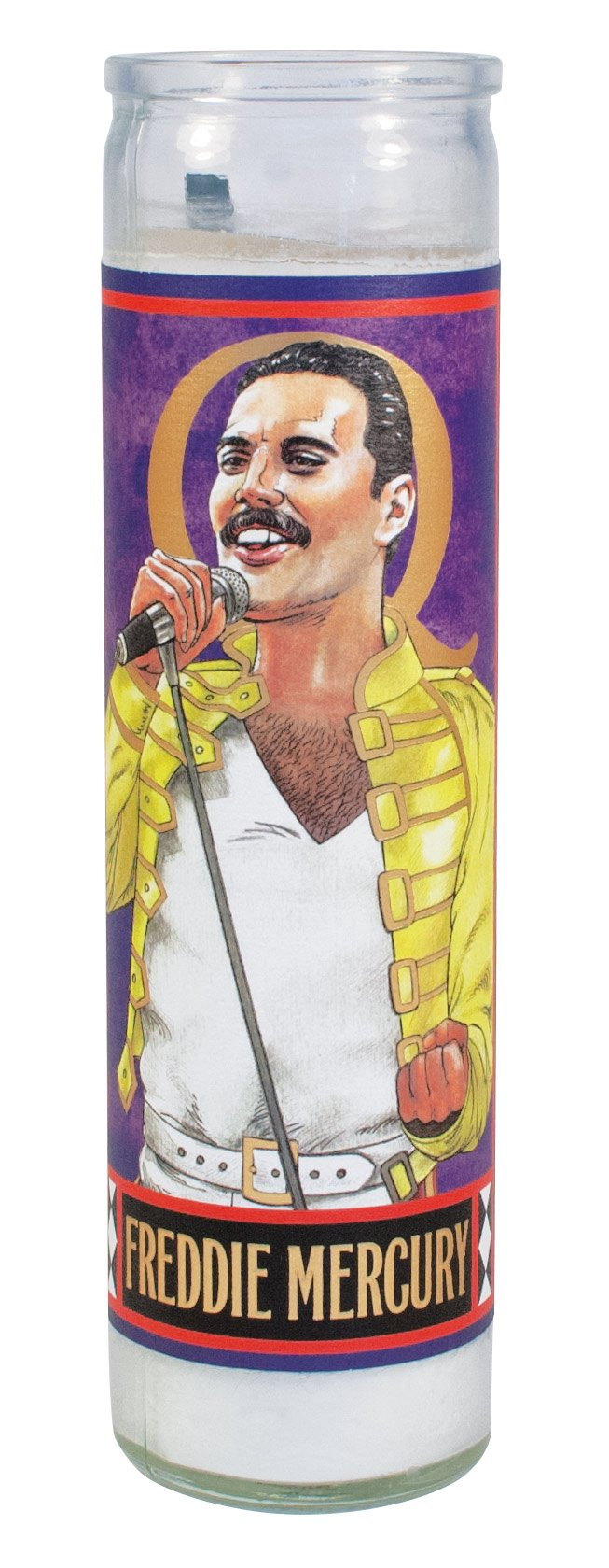 The Unemployed Philosopher's Guild Freddie Mercury Secular Saint Candle