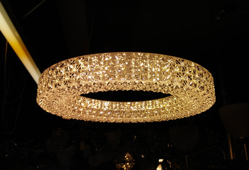Small crystal effect acrylic chandelier
