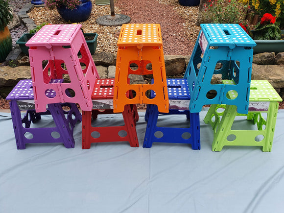 QHP Step up Mounting Block, Stool, Seat - various colours