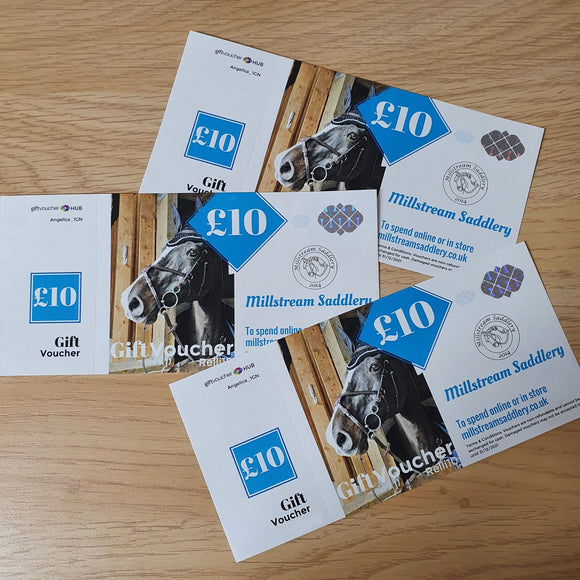 E-vouchers Millstream Saddlery Gift Vouchers