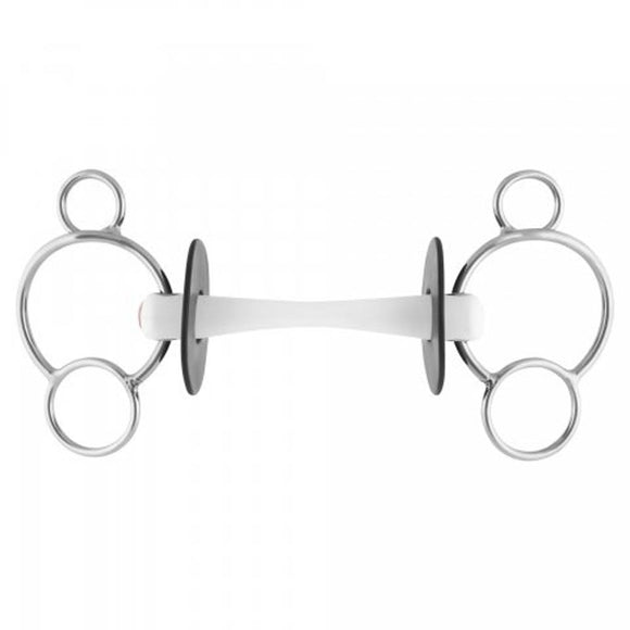 Nathe 3 ring universal gag with flexi mullen mouth