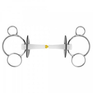 Nathe single jointed 3 ring universal gag bit