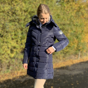 Mark Todd Deluxe Long Padded Coat - Navy