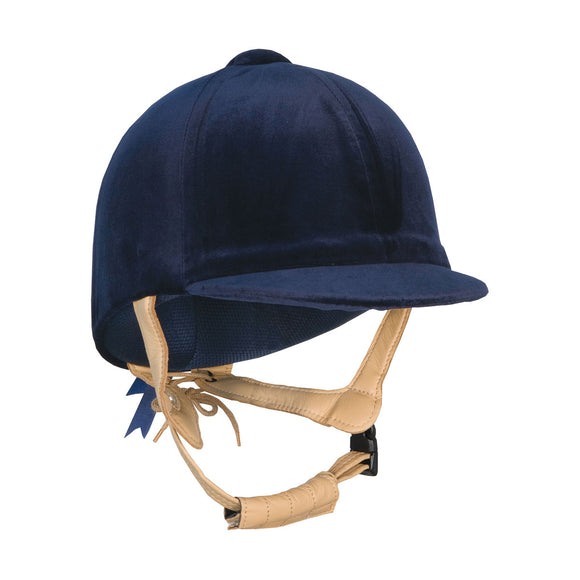 Champion CPX3000 Deluxe velvet covered riding hat - Navy